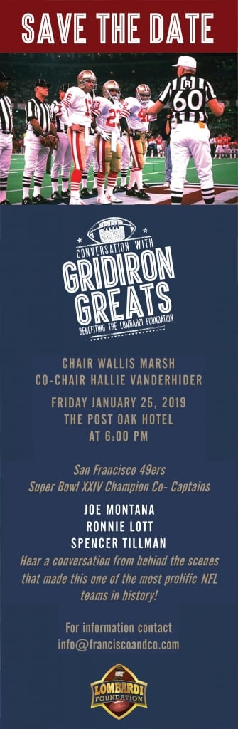 Conversations with Gridiron Greats benefiting the Lombardi Foundation @ The Post Oak Hotel  | Houston | Texas | United States