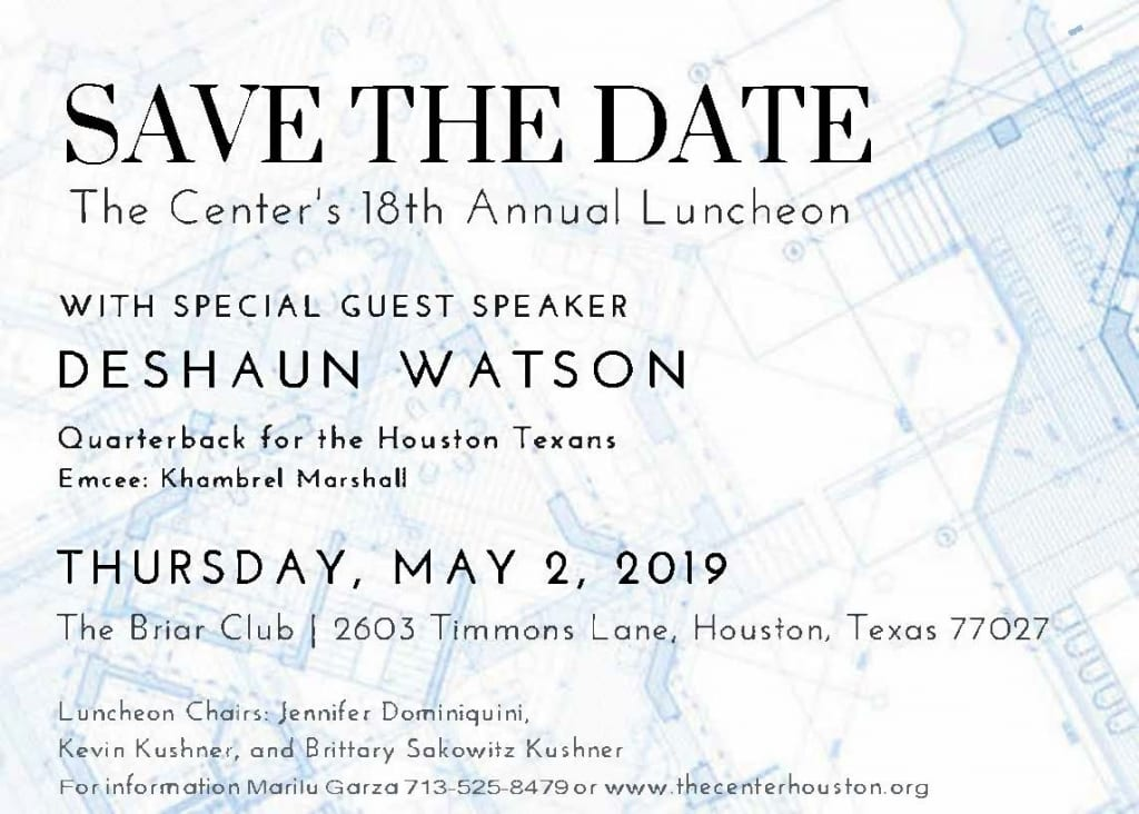 The Center's 18th Annual Luncheon featuring Deshaun Watson @ The Briar Club